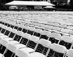 Effective events setup photo- chairs